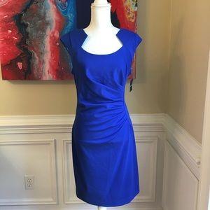 ELLEN TRACY Royal Cobalt Blue Dress NWT